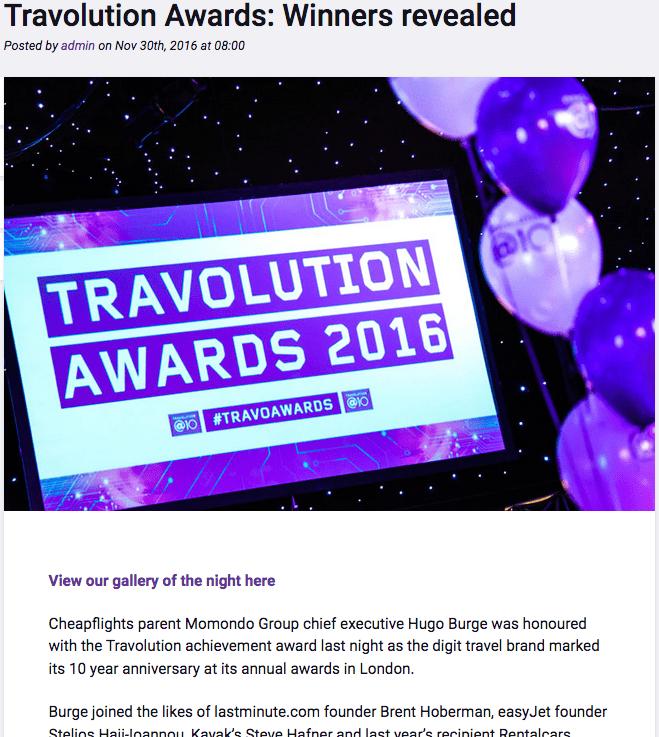 Travolution Awards 2016