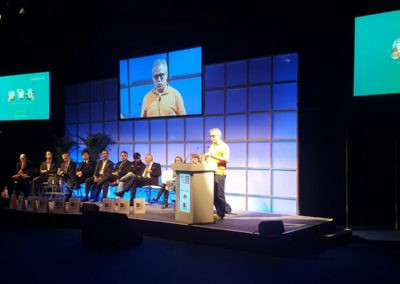Andy at the World Travel Market panel