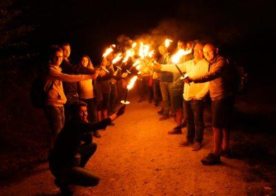 torchlight hike