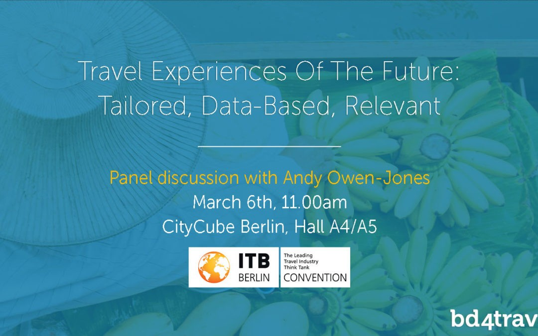 Travel Experiences – Tailored, Data-Based, Relevant