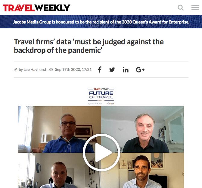 Future of Travel: COVID-19 has made historic data worthless