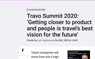 TravolutionSummit2020: Real-time matching enables Travel industry to personalise content.