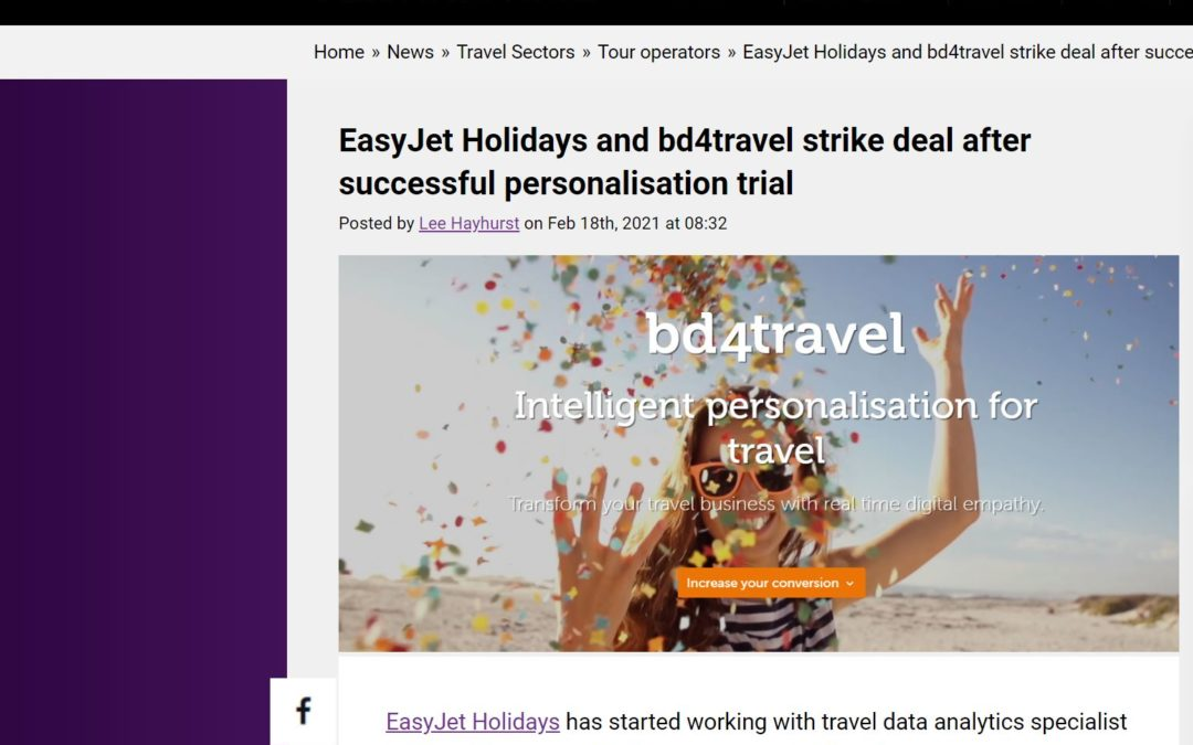 travolution.com: bd4travel settles cooperation with EasyJet Holidays