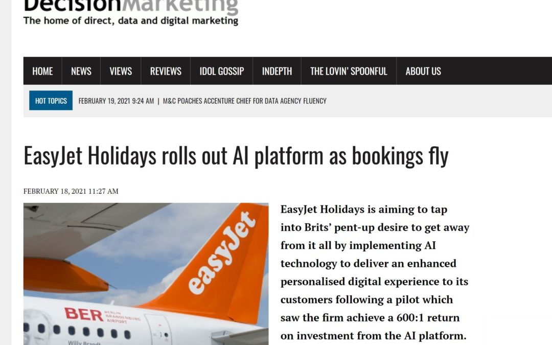 Decision Marketing: EasyJet Holidays rolls out AI platform