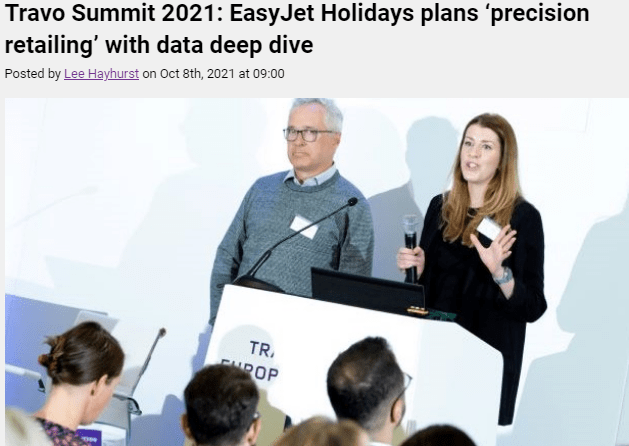 Travo Summit 2021: EasyJet Holidays plans 'precision retailing' with data deep dive